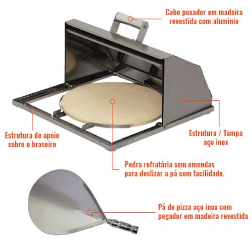 Forno para churrasqueira detalhe 1