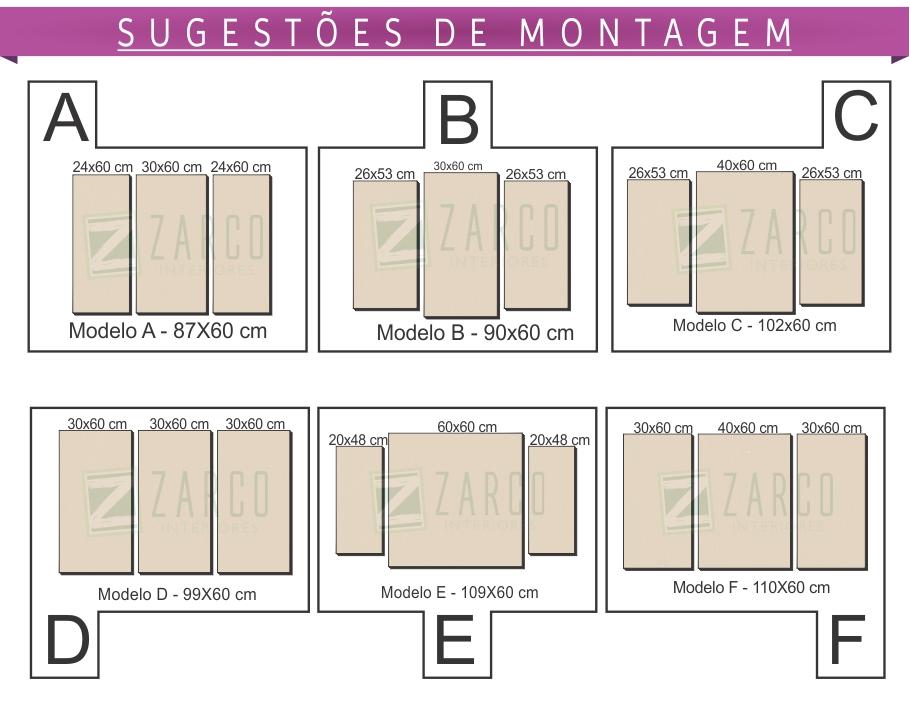 Quadros Decorativos Personalizados P3 Peças Zarco Interiores em Ubá