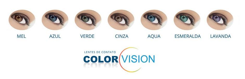 Importante  Tonalidades das lentes coloridas podem variar conforme cor  natural dos olhos 7111a3cb05