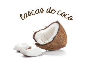 lascas de coco